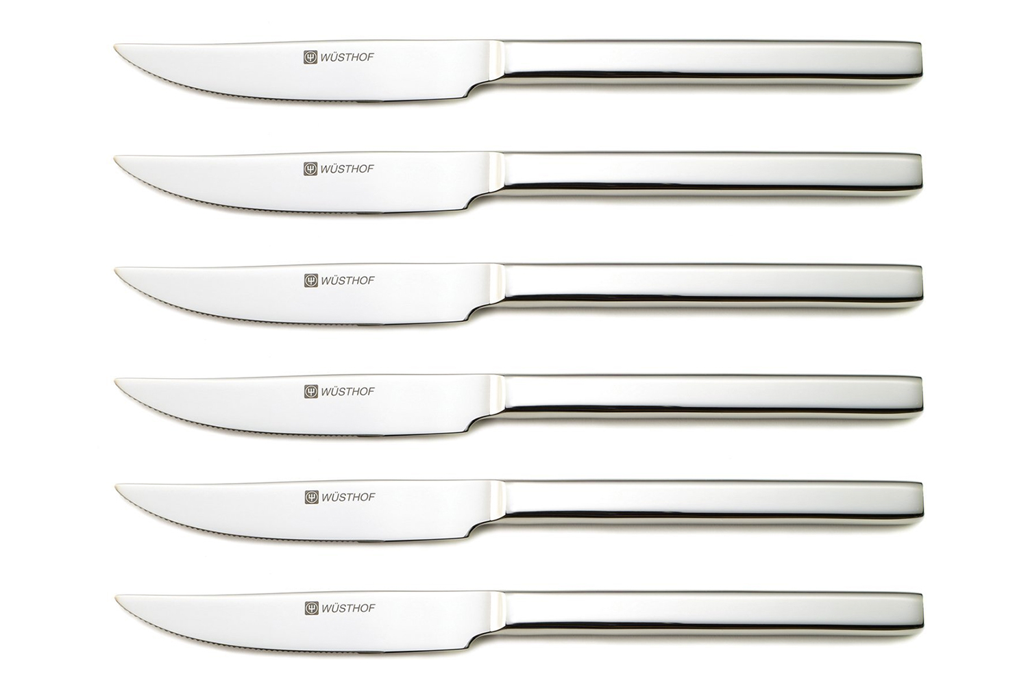 Wusthof 6 Piece Stainless Steak Knife Set