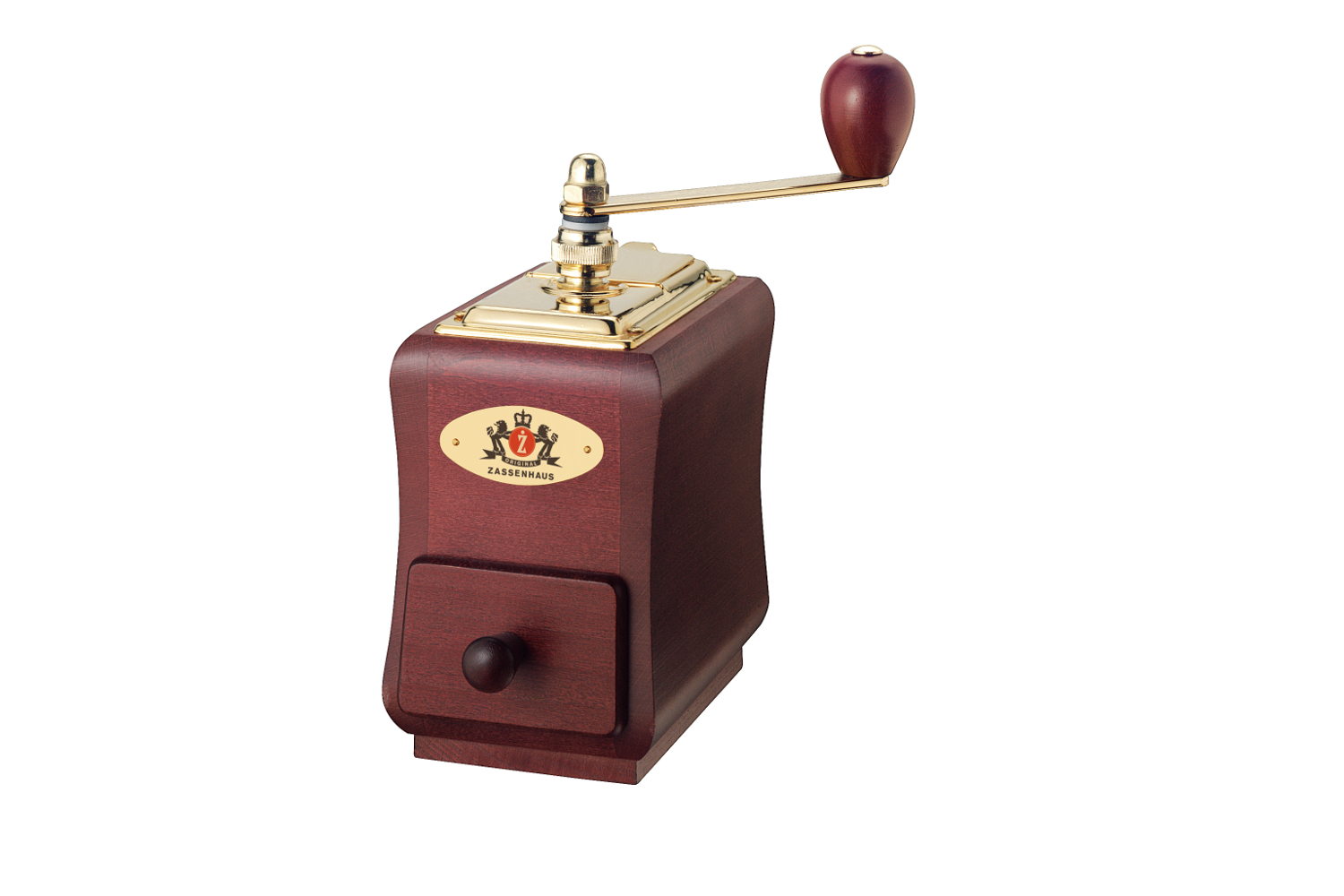 Zassenhaus Santiago Manual Coffee Mill - Mahogany Beech Wood