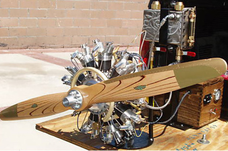 Hand Machined Miniature 9 Cylinder Radial Gas Engine