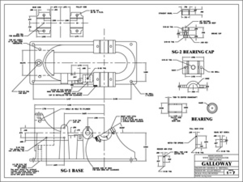 Machine Drawings for the Galloway 1/3 Scale Model Hit and Miss Engine