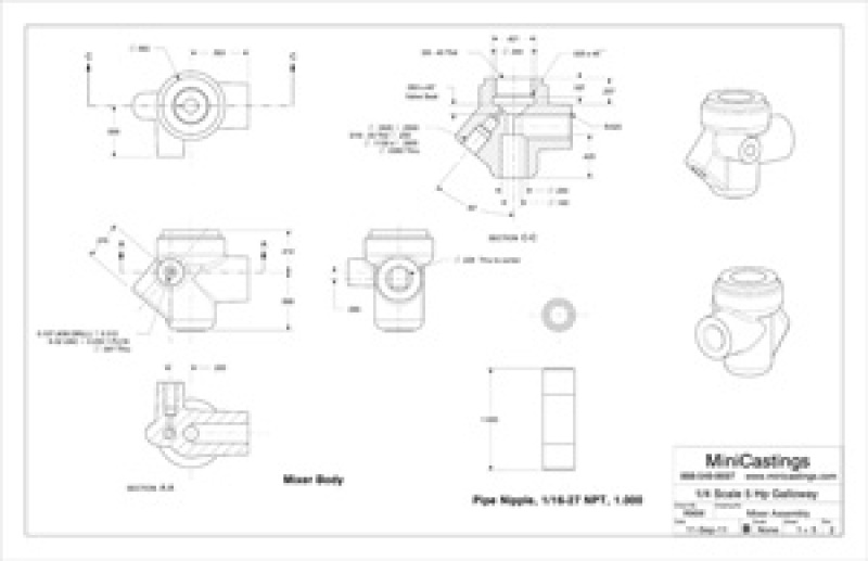 Machine Drawings for the Galloway 1/4 Scale Model Hit and Miss Engine