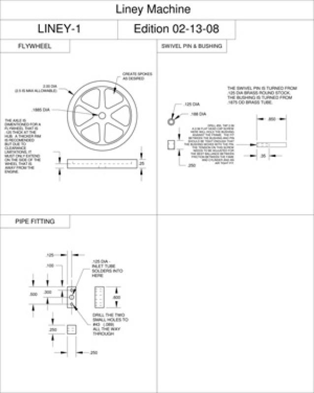 Single Cylinder Oscillator Plans