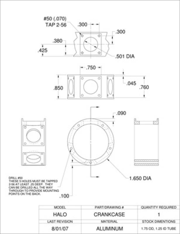 HALO five cylinder radial plans