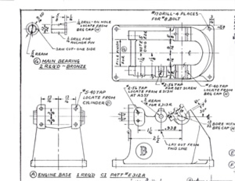 Machine Drawings for the Little Brother 1/4 Scale Model Hit and Miss Engine