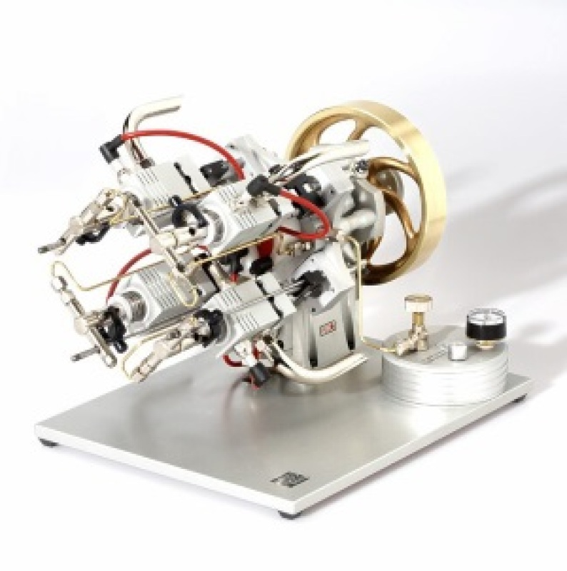 Butane Gas Powered Engine - Four Cylinder Axial Piston Gas Engine MM6