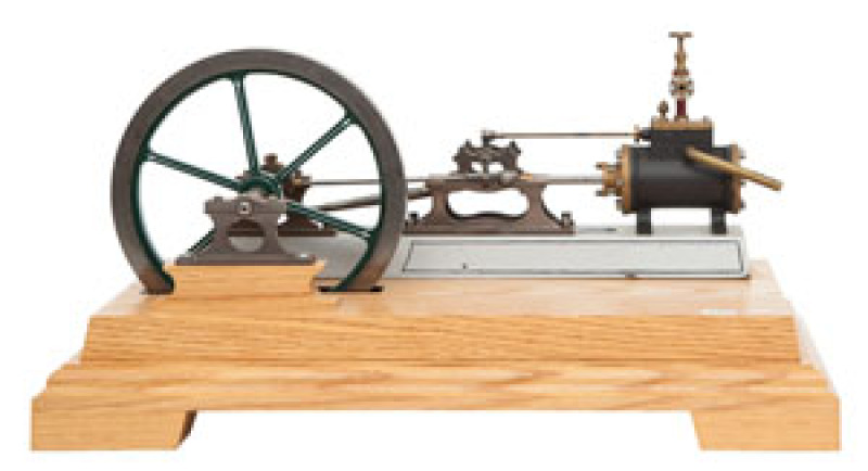 LIVE STEAM SCALE MODEL VICTORIAN HORIZONTAL BOX BED ENGINE