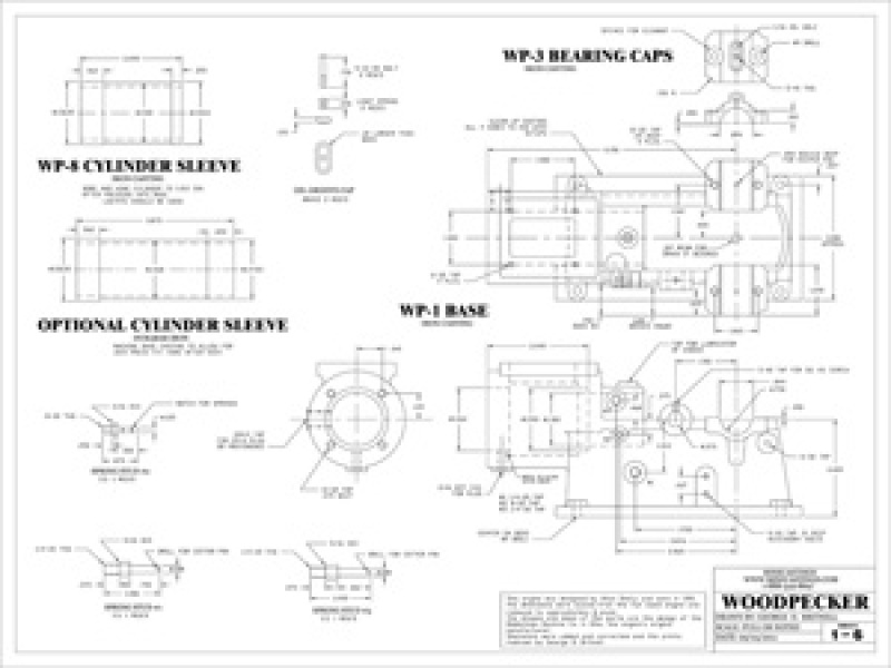Machine Drawings to Build Scale Model of a Woodpecker Hit and Miss Engine