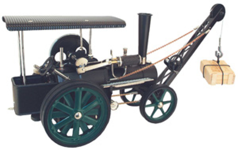 Wilesco Steam Traction Engine with crane D405/1