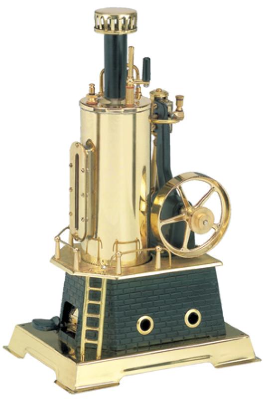 Wilesco D456 Steam Engine Black-Brass