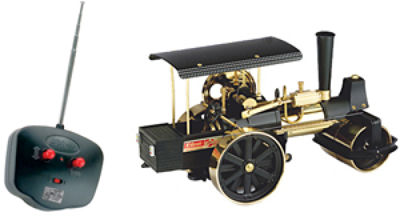 Wilesco D396 Steam Roller Brass with RC Control