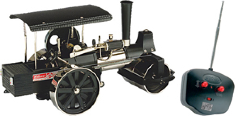 Wilesco D398 Steam Roller Black Nickel with RC Control
