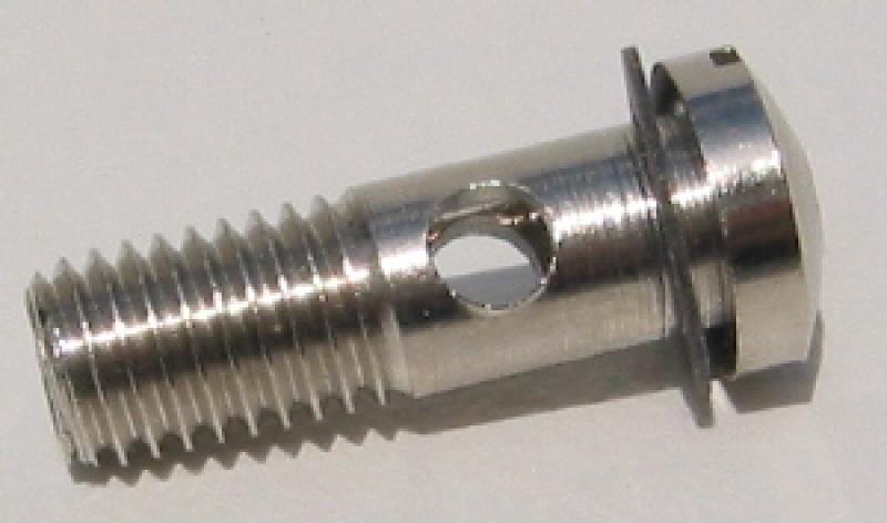 Jensen Hollow Steam Screw, machined brass / nickel