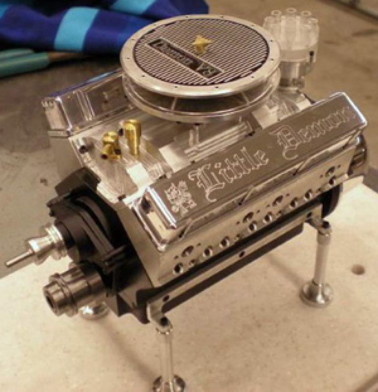 Demon V8 Working Model Engine PLANS Printed