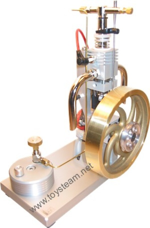 Butane Gas Powered Engine - Single Cylinder 1S with Piezo Ignition and Large Flywheel MM3