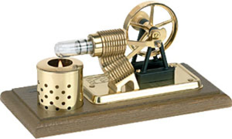 Wilesco H100 Stirling Engine without Dynamo and Street Lamp