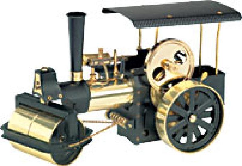 Wilesco D366 Steamroller Black-Brass