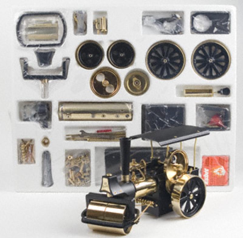 Wilesco D376 Steamroller Black-Brass Kit