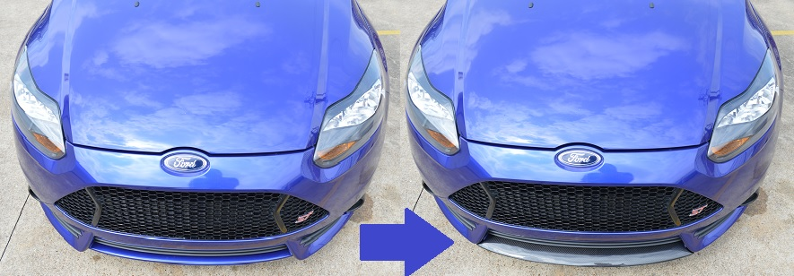 MPx Carbon Fiber front lip for the 2013-2014 Ford Focus ST