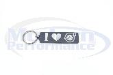 I HEART TURBO CNC Machined Keychain