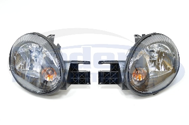 SPEC-D Black Housing OEM Style Headlights, 03-05 Neon