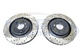 StopTech Drilled & Slotted Rotors (Front Pair), 08-09 Caliber SRT-4