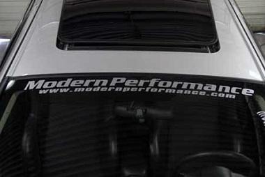 Modern Performance Windshield Banner / Sticker