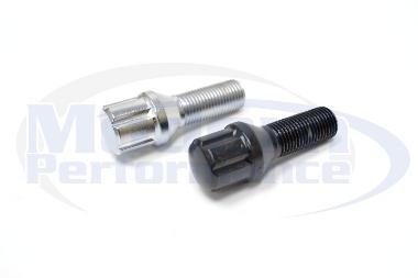 16 Piece Spline Drive Lug Bolt Set (Chrome or Black), 2012+ Fiat 500