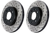 StopTech Drilled & Slotted Rotors (Front Pair), 2012-19 Chevrolet Sonic 1.4L Turbo