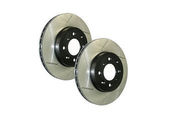StopTech Slotted Rotors (Front Pair), 2012-19 Chevrolet Sonic 1.4L Turbo