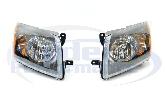 DEPO Black Surround Headlights (Pair), 07-12 Caliber