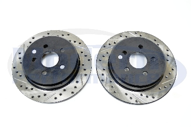 StopTech Drilled & Slotted Rotors (Rear Pair), 03-05 Neon SRT-4 / 03-07 PT Cruiser GT