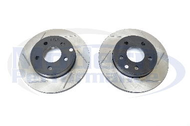 StopTech Slotted Rotors (Rear Pair), 05-07 Cobalt SS
