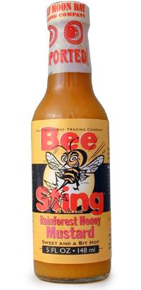 Bee Sting Rain Forest Honey Mustard Hot Sauce