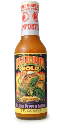 Iguana Gold Pepper Hot Sauce