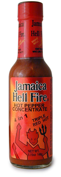 Jamaica Hellfire 4 in 1 Hot Sauce