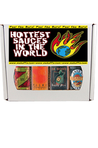 Hottest Sauces in the World 4 Pack