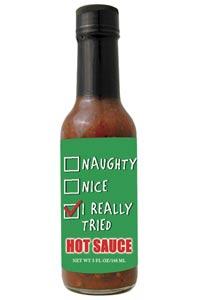Santa Checklist Hot Sauce