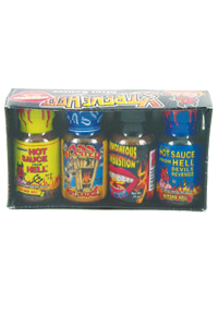 Mini Xtreme Heat Hot Sauce 4 Pack