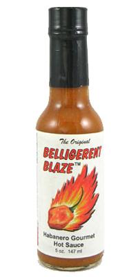 Belligerent Blaze Gourmet Habanero Hot Sauce