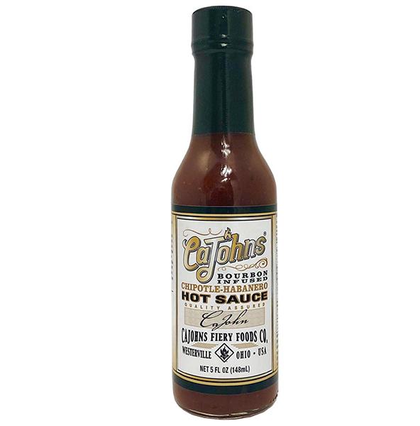 Cajohn's Bourbon Infused Chipotle Habanero Hot Sauce