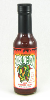 "Colon Blow ""Red Hot Enema"" Hot Sauce"