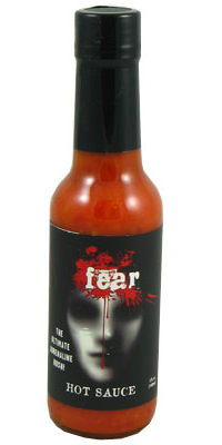 Fear Hot Sauce with Bhut Jolokia Peppers