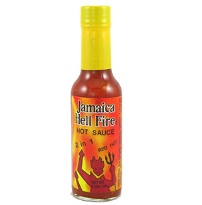 Jamaica Hell Fire 2 in 1 Hot Sauce