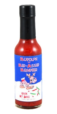 Rudolph the Red-Assed Reindeer Cajun Hot Sauce