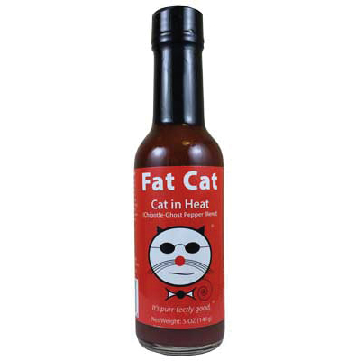 Fat Cat Cat in Heat: Chipotle Ghost Pepper Hot Sauce