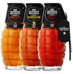 All Three General's Grenade Hot Sauces