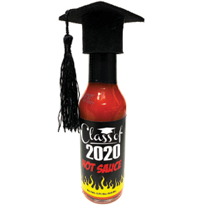 Class of 2020 Hot Sauce (w/ Graduation Cap on Top)