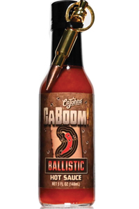 CaBoom! Ballistic Hot Sauce with Bullet Bottle Opener Keychain