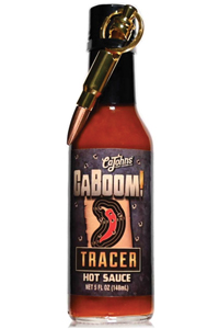 CaBoom! Tracer Hot Sauce with Bullet Bottle Opener Keychain