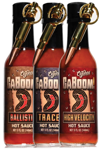 All Three- CaBoom! Hot Sauce with Bullet Bottle Opener Keychain